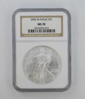 MS70 2006-W AMERICAN SILVER EAGLE - NGC GRADED 8355
