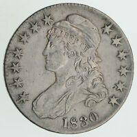 1830 CAPPED BUST HALF DOLLAR - CIRCULATED 6156