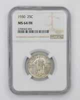 MINT STATE 64FH 1930 STANDING LIBERTY QUARTER - NGC GRADED 4528