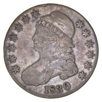 1830 CAPPED BUST HALF DOLLAR - CIRCULATED 7961