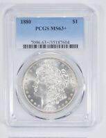 MINT STATE 63 1880 MORGAN SILVER DOLLAR - PCGS GRADED 9151