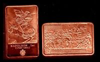 BRONZE PLATED BAR : NAPOLEON AND THE FIRST LEGION D'HONNEUR