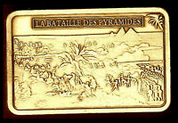 BRONZE PLATED BAR : NAPOLEON AND THE BATTLE OF PYRAMIDS