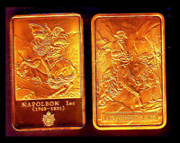 GOLD PLATED BAR : NAPOLEON AND THE CROSSING OF ALPS