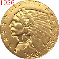 $2.5 GOLD INDIAN HALF EAGLE 1926 VINTAGE COIN FOR COLLECTION
