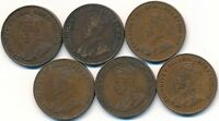 6 KEY DATE 1923 ONE CENT'S CANADA