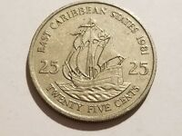 1981 EASTERN CARIBBEAN STATES   25 CENTS   THE