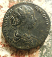 VF  SESTERTIUS OF LUCILLA WIFE OF LUCIUS VERUS. AUGUSTA 164 182 AD. 22G 30MM