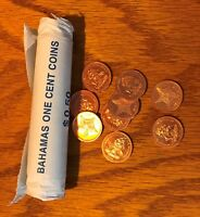 2004 THE BAHAMAS ONE 1 CENT KM 59A BU GEM 1 COIN /BID FROM ORIGINAL ROLL 8025