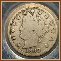 1898 LIBERTY V NICKEL COLLECTIBLE EARLY DATE