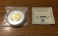 AMERICAN MINT 2003 P JEFFERSON NICKEL 14K GOLD PLATED INLAY COMMEMORATIVE COIN
