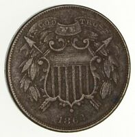 1864 TWO-CENT PIECE - SMALL DATE- CIRCULATED 2117