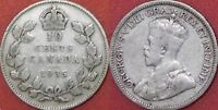 VERY GOOD 1935 CANADA SILVER 10 CENTS