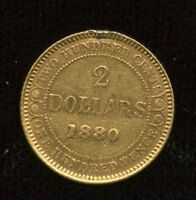 1880 NEWFOUNDLAND $2 TWO DOLLAR GOLD COIN      SALE