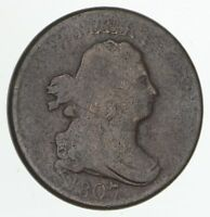 1807 DRAPED BUST HALF CENT - CIRCULATED 4182