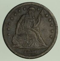 1860-O SEATED LIBERTY SILVER DOLLAR - CIRCULATED 9294