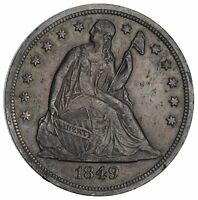 1849 SEATED LIBERTY SILVER DOLLAR- CIRCULATED 2887