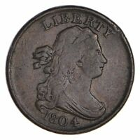 1804 DRAPED BUST HALF CENT - CIRCULATED 0656