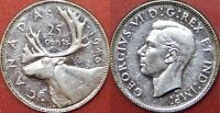 ALMOST UNCIRCULATED 1946 CANADA SILVER 25 CENTS