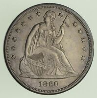 1860-O SEATED LIBERTY SILVER DOLLAR - CIRCULATED 0427
