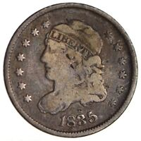 1835 CAPPED BUST HALF DIME - CIRCULATED 1717