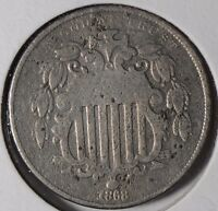 1868 5C SHIELD NICKEL ABOUT GOOD CONDITION 176861
