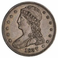 1837 CAPPED BUST HALF DOLLAR- NEAR UNCIRCULATED 1937