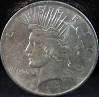 1923 P PEACE SILVER DOLLAR ABOUT UNCIRCULATED AU - SKU 261US