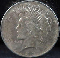 1923 P PEACE SILVER DOLLAR ABOUT UNCIRCULATED AU - SKU 264US