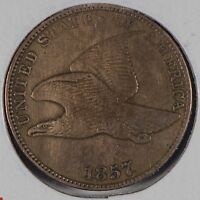 1857 1C FLYING EAGLE CENT EXTRA FINE 168630
