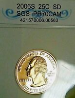 2006 S  WASHINGTON PROOF 25 CENT SD PROOF STATE QUARTER US COIN