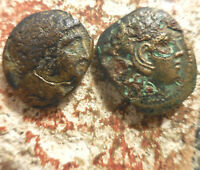 LOT OF 2 COINS PHILIP II OF MACEDONIA & SON ALEXANDER THE GREAT  359 323 BC