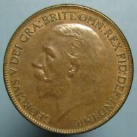 1927 GEORGE V PENNY   BROWN UNCIRCULATED WITH SOME FADED MINT RED