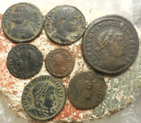 LOT OF 7 VF  ANCIENT ROMAN COINS  LARGEST 29 MM.  EASY TO ID