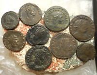 LOT OF 9 VF  ANCIENT ROMAN COINS  LARGEST 23 MM EASY TO ID