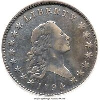 1794 FLOWING HAIR HALF DOLLAR, NCS VF DETAILS O-101A, T-7 HIGH R-3,  DATE