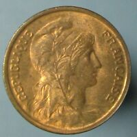 1920 CENTIME   RED & BROWN CHOICE UNCIRCULATED