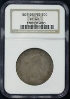 1807   DRAPED BUST HALF DOLLAR 50C NGC CERTIFIED EXTRA FINE  40 EXTRA FINE  003