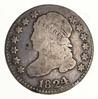 1824 CAPPED BUST DIME - CIRCULATED 3101