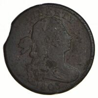 1803 DRAPED BUST LARGE CENT - CLIPPED - CIRCULATED 2565