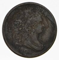 1804 DRAPED BUST HALF CENT - CIRCULATED 1019
