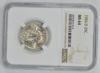 MINT STATE 64 1926-D STANDING LIBERTY QUARTER - NGC GRADED 1546
