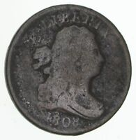 1808 DRAPED BUST HALF CENT - CIRCULATED 4176