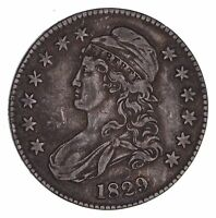 1829 CAPPED BUST HALF DOLLAR - CIRCULATED 1470