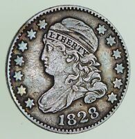 1828 CAPPED BUST DIME - CIRCULATED 7196