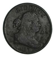 1803 DRAPED BUST HALF CENT - CIRCULATED 1350