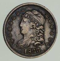 1833 CAPPED BUST HALF-DIME - CIRCULATED 9640