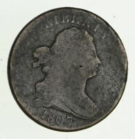 1807 DRAPED BUST HALF CENT - CIRCULATED 2812
