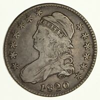 1820 CAPPED BUST HALF DOLLAR - CIRCULATED 6182