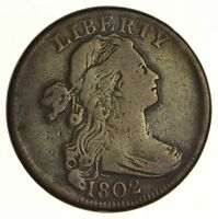1802 DRAPED BUST LARGE CENT SHELDON S-242 - CIRCULATED 6207